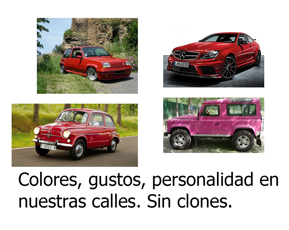 Coches grises - Coches de color